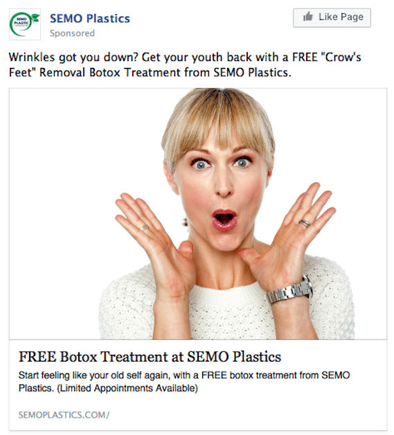 Facebook Ads for Plastic Surgery Leads Example