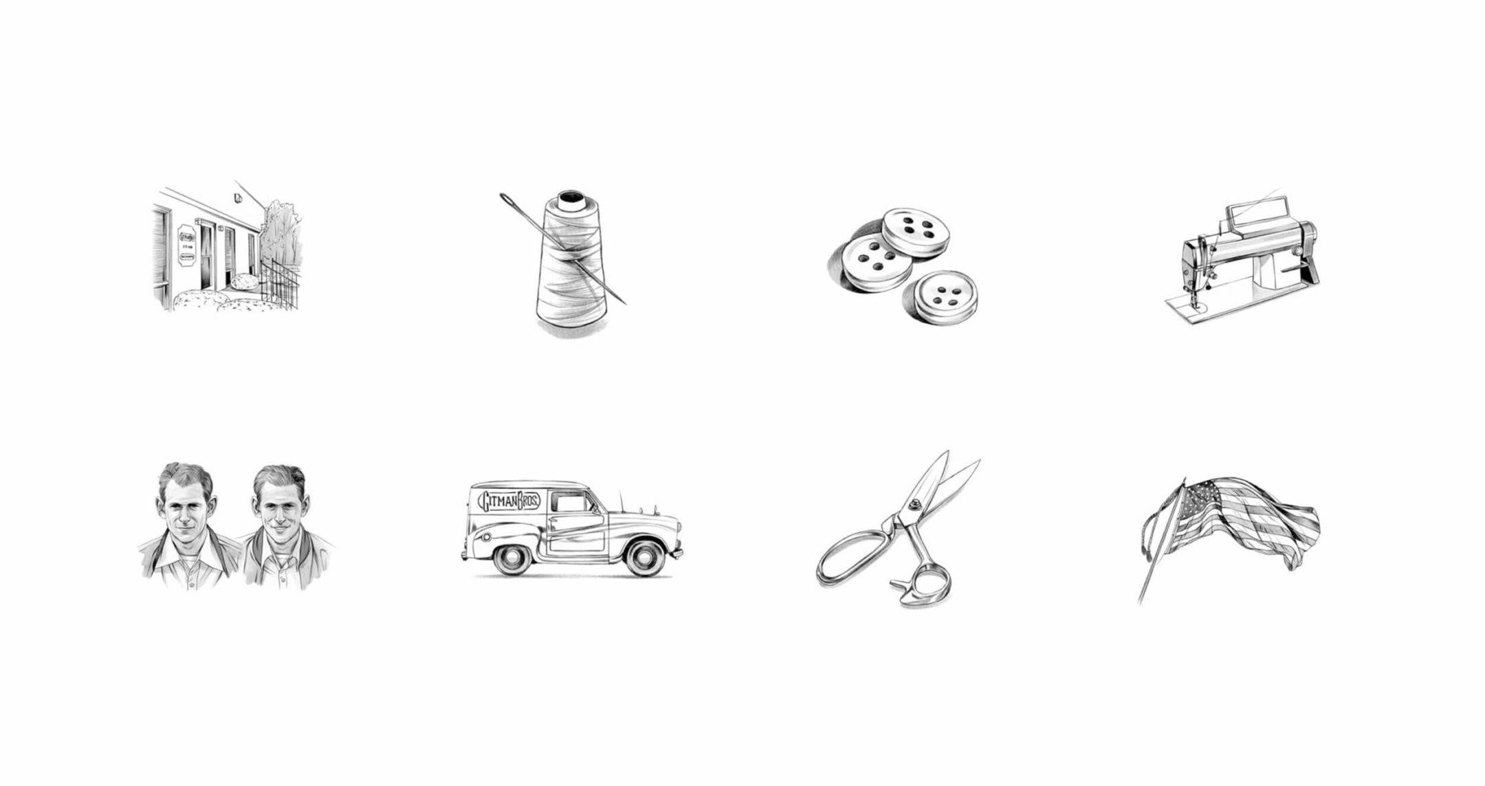 illustrations for gitmans bros