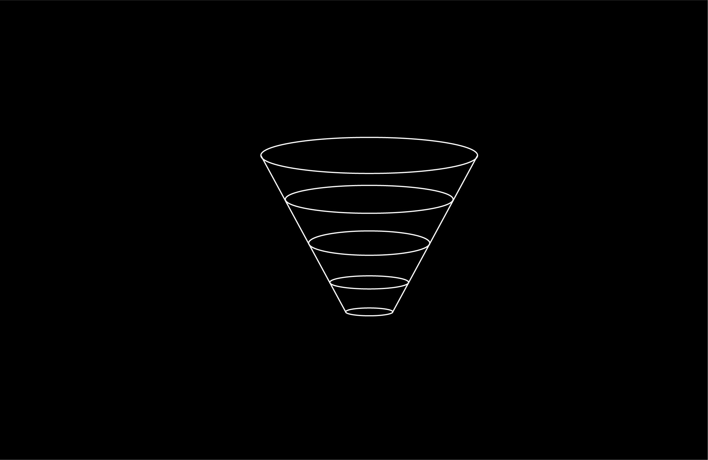 marketing funnel illustration