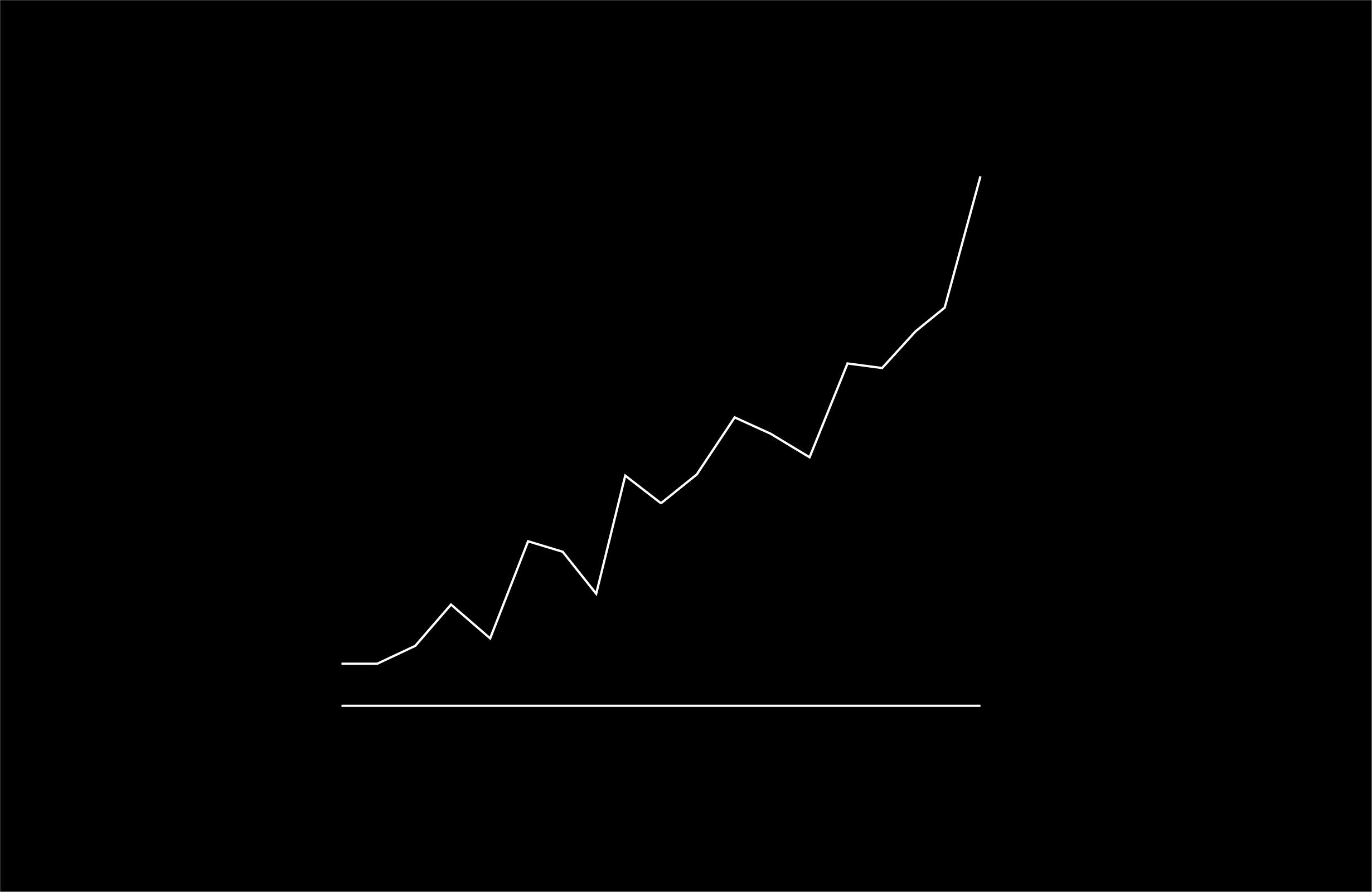 positive line graph illustration