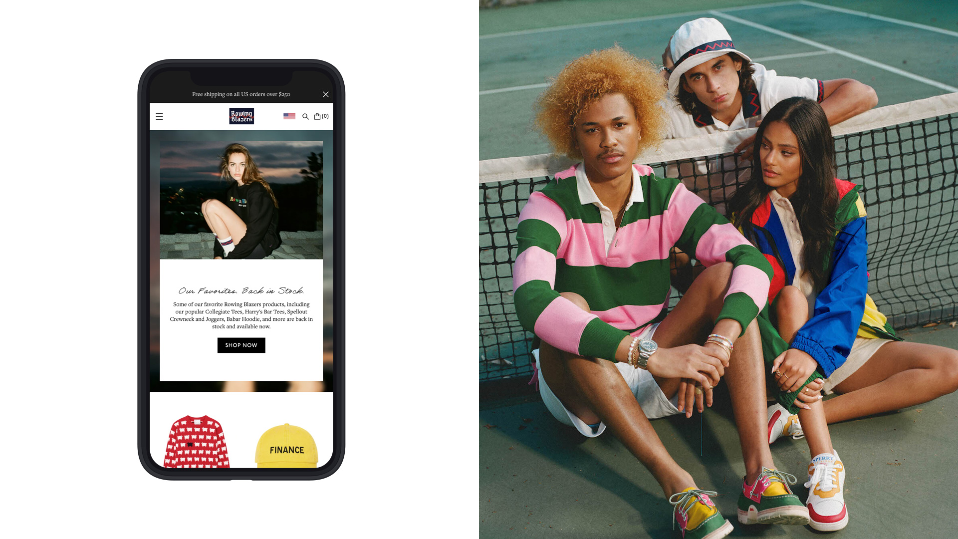 Rowing Blazers Homepage and Lifestyle Image