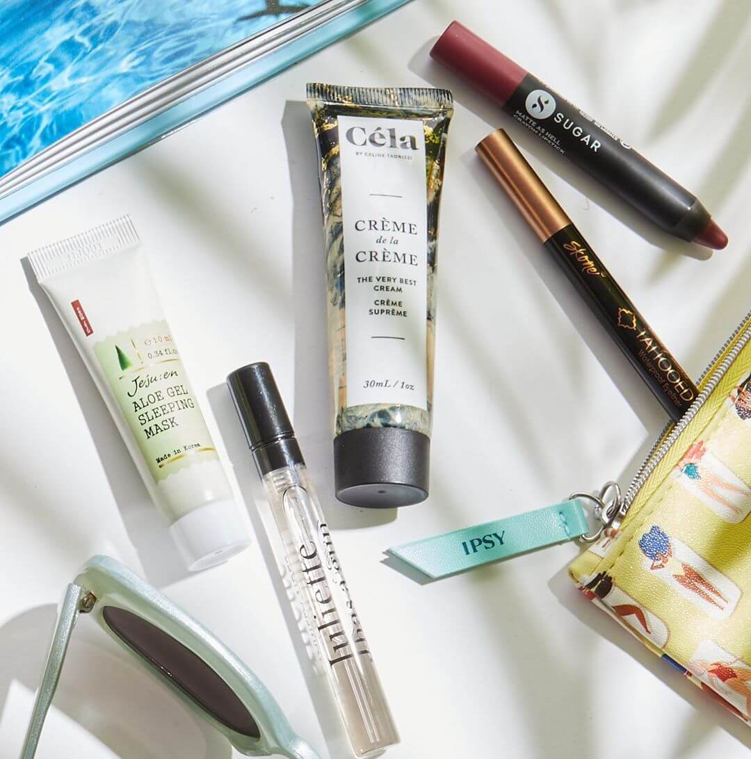 """A sample of products in one of Ipsy's """"Glam Bags."""""""