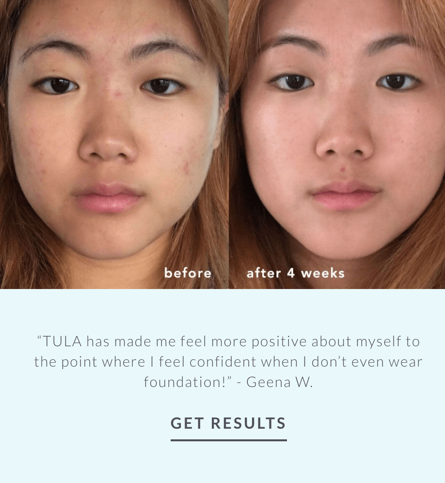 Tula Skincare emphasizing the long-term benefits of its skincare products.