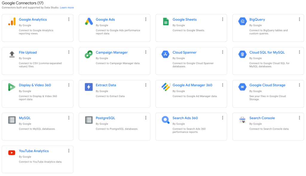 Google has 17 native connectors with its own platforms, plus people have built connections with tons of other tools