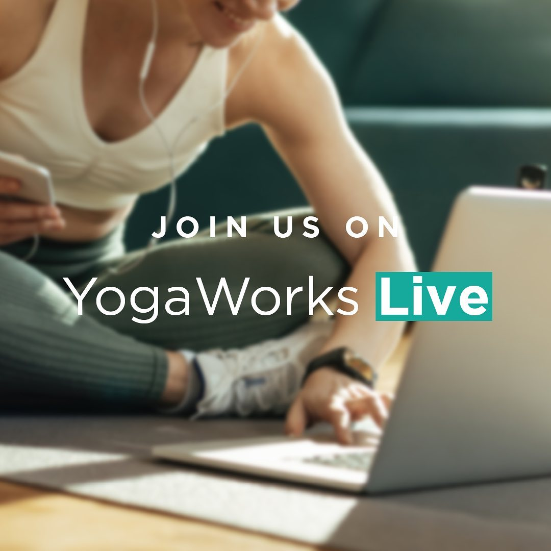 YogaWorks Live announcement on Instagram.