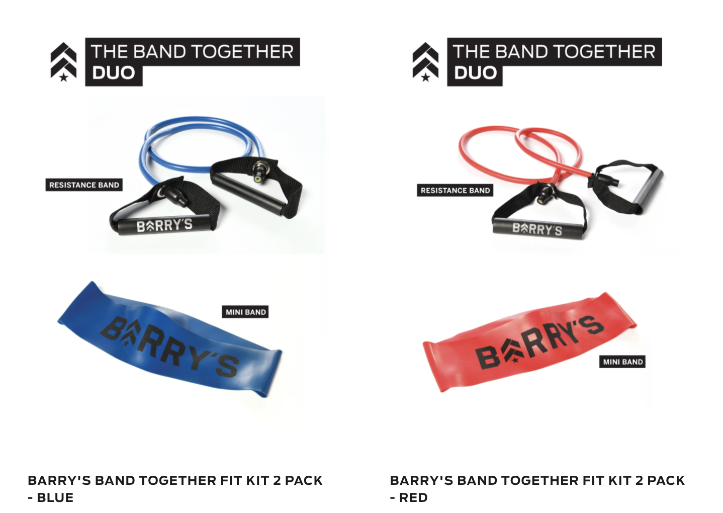Barry's At Home band kits.