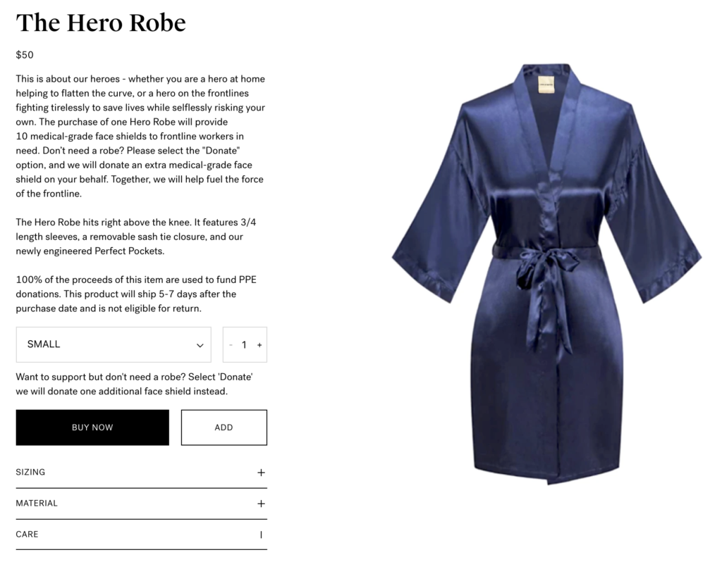 Laws of Motion's Hero Robe Initiative.