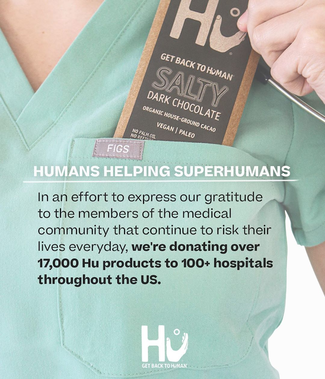"Hu's ""Humans Helping Superhumans"" initiative."