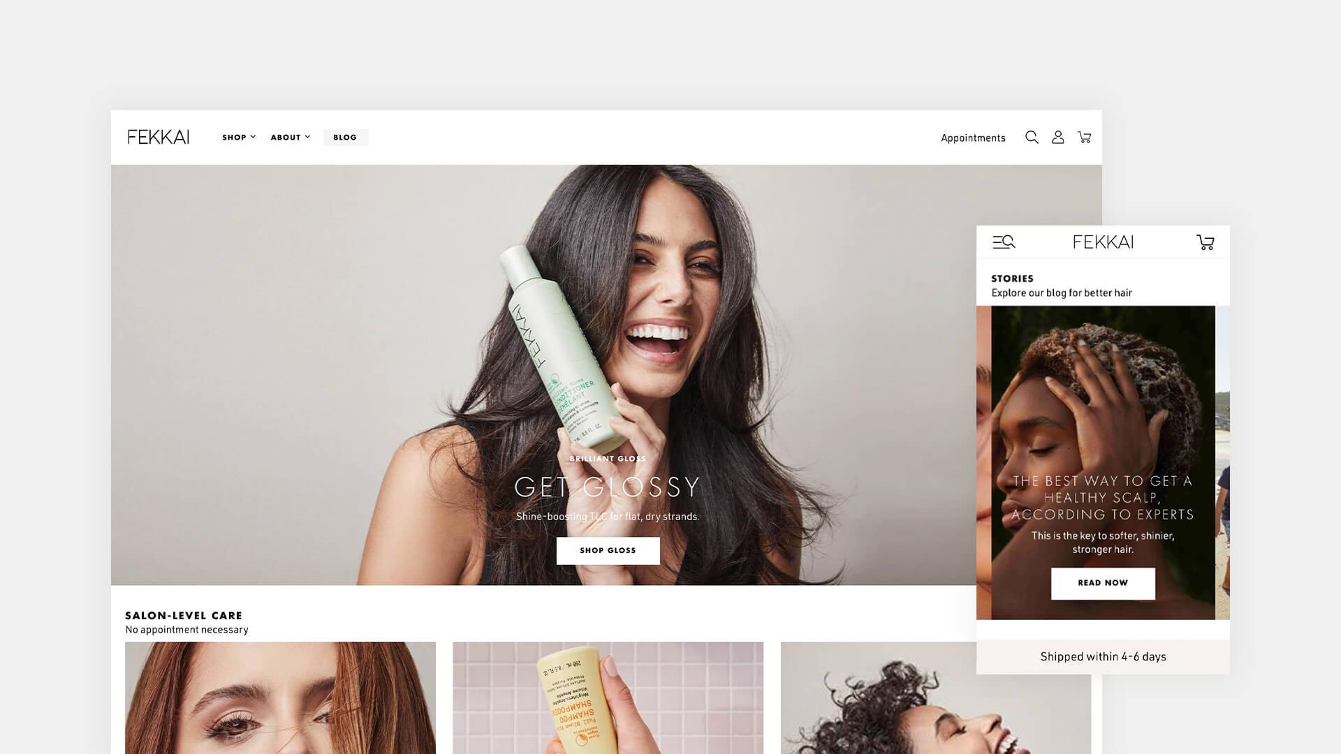 Desktop and mobile homepage