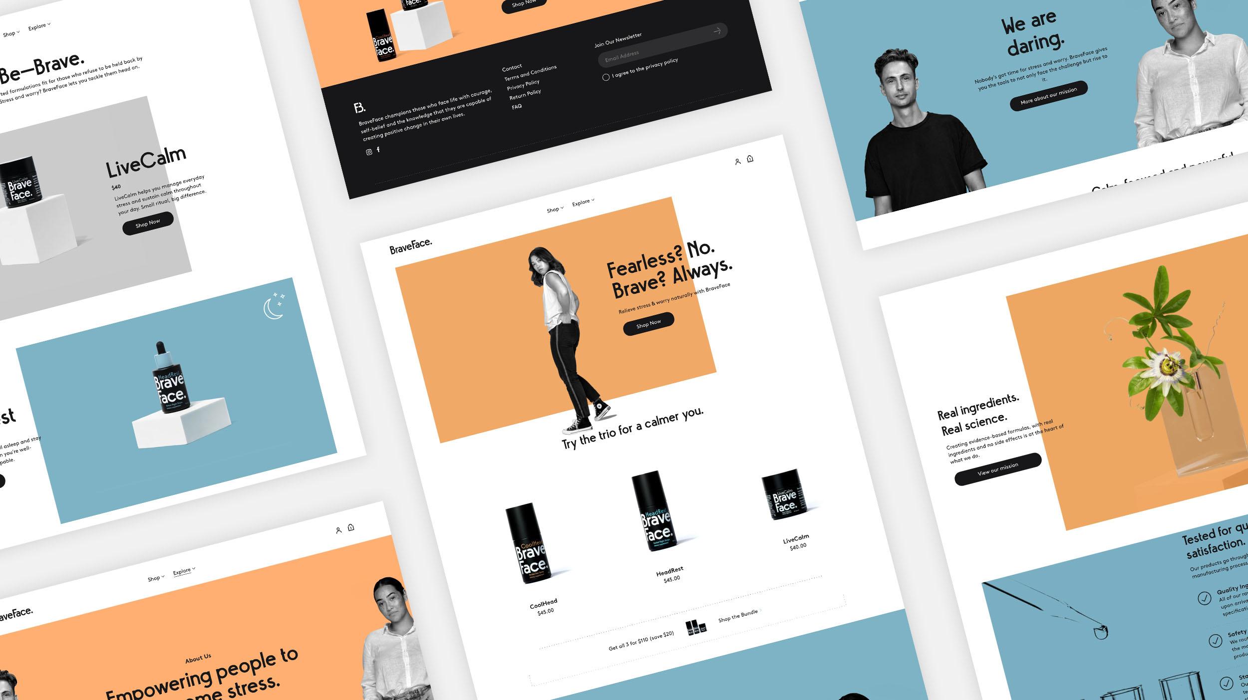 BraveFace desktop designs