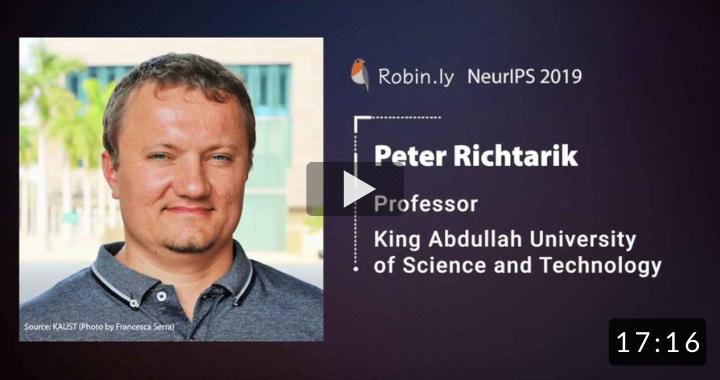 Peter Richtarik @ KAUST, Saudi Arabia: Managing Data Privacy In The AI Era