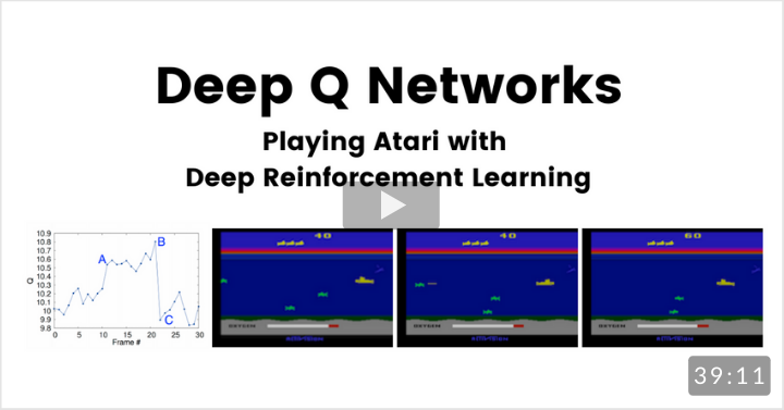 Playing Atari with Deep Reinforcement Learning (Deep Q Networks)