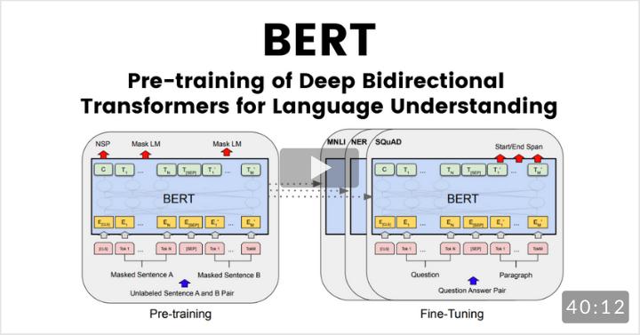 BERT: Pre-training of Deep Bidirectional Transformers for Language UnderstandingAuthors:Jacob Devlin, Ming-Wei Chang, Kenton Lee, Kristina Toutanova (Google AI Language)