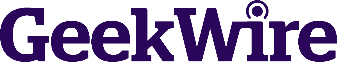 Logo of GeekWire, representing press coverage of Refactr