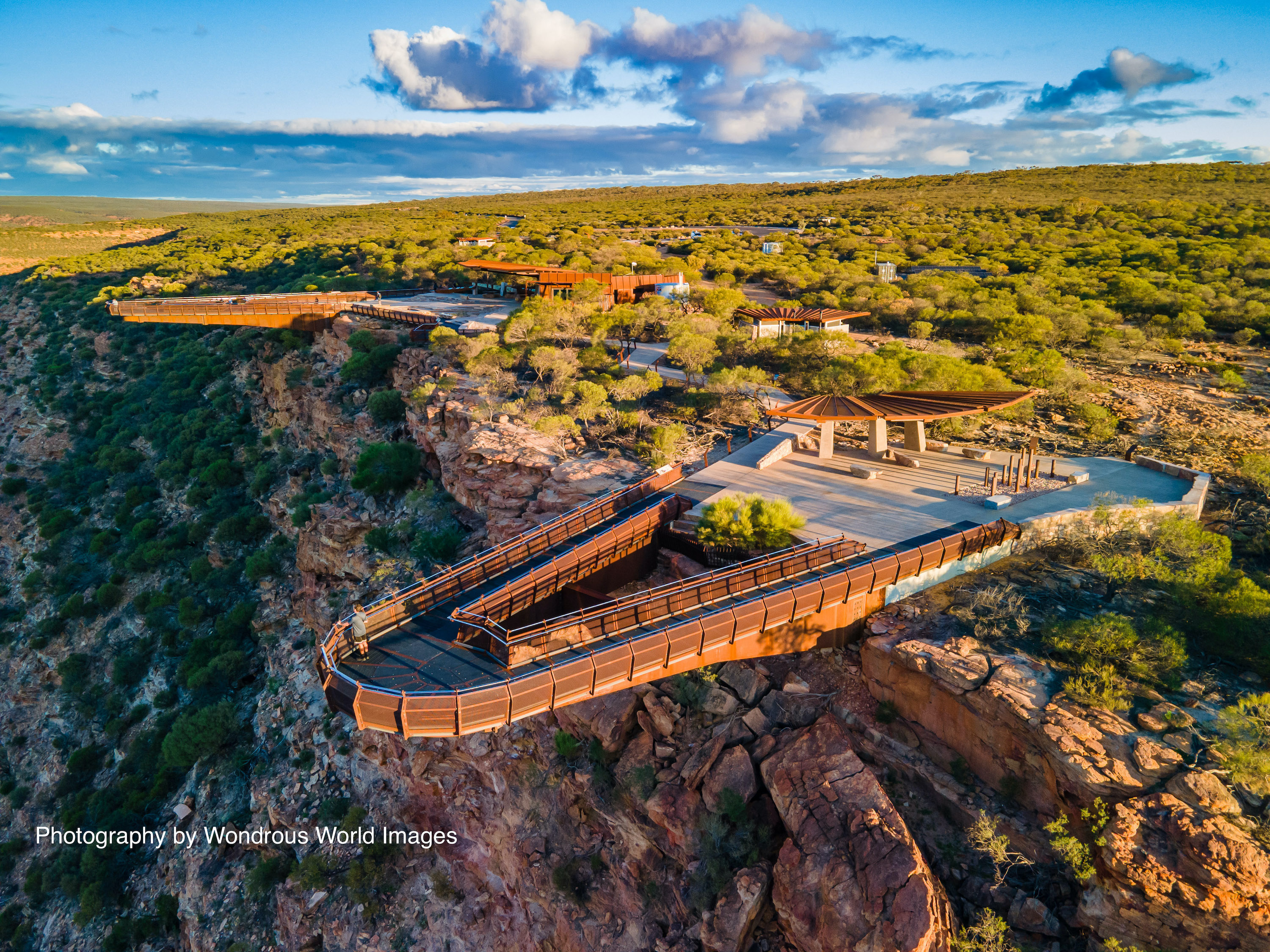 Kalbarri Skywalk and the Murchison cliffs from above