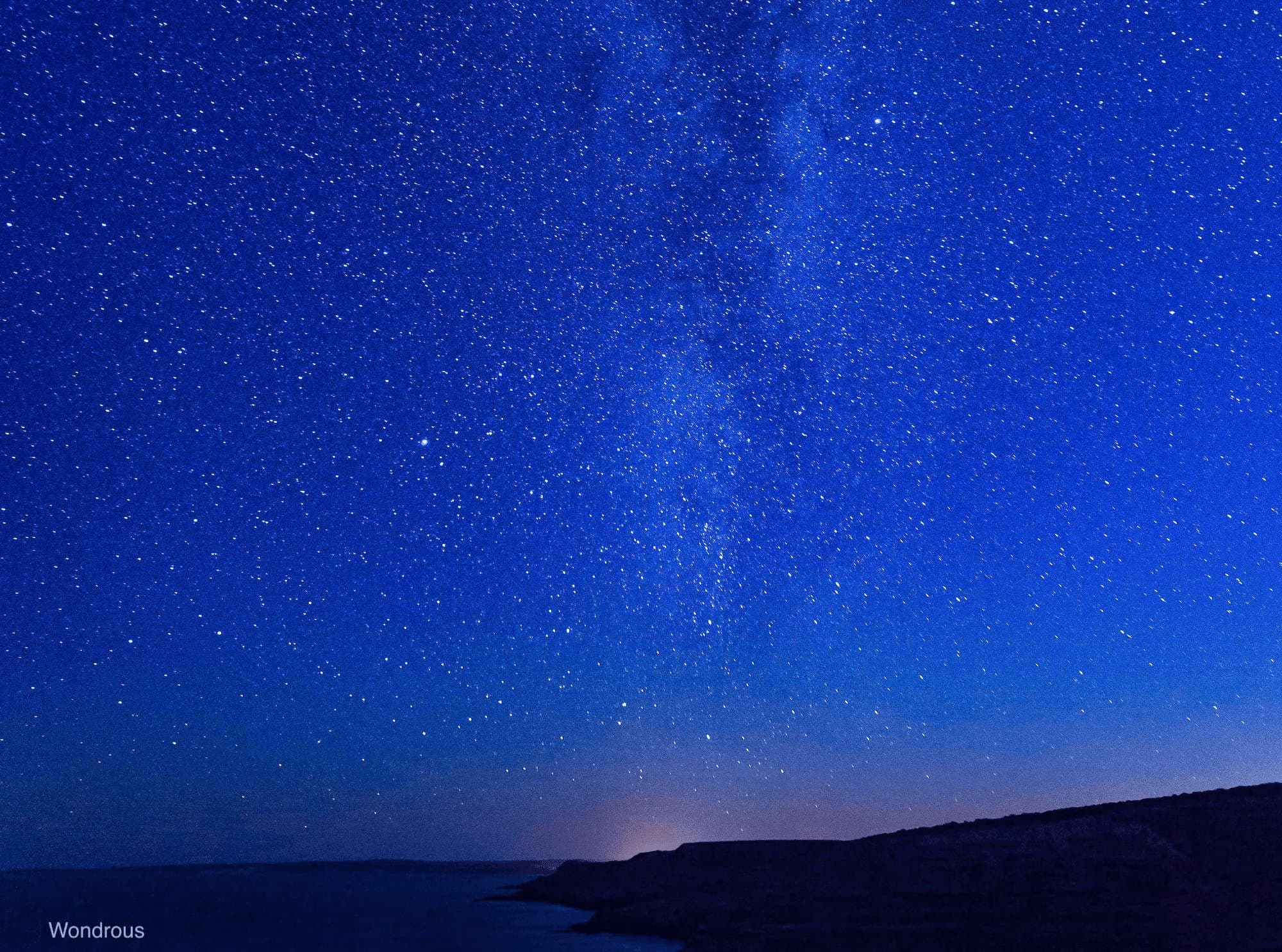 stars above Kalbarri cliffs