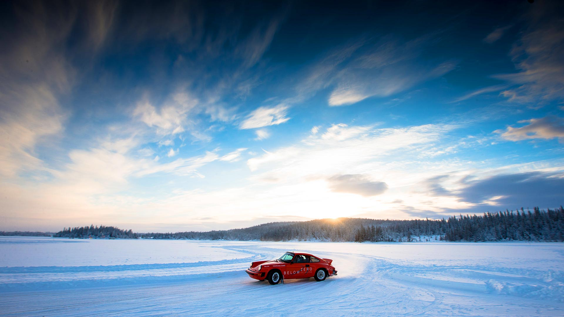 Below Zero Porsche Ice Driving