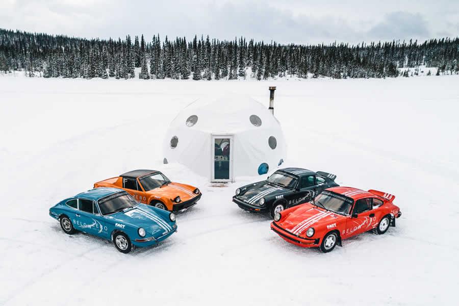 Below Zero Ice Driving base camp near to the popular ski resort of Åre