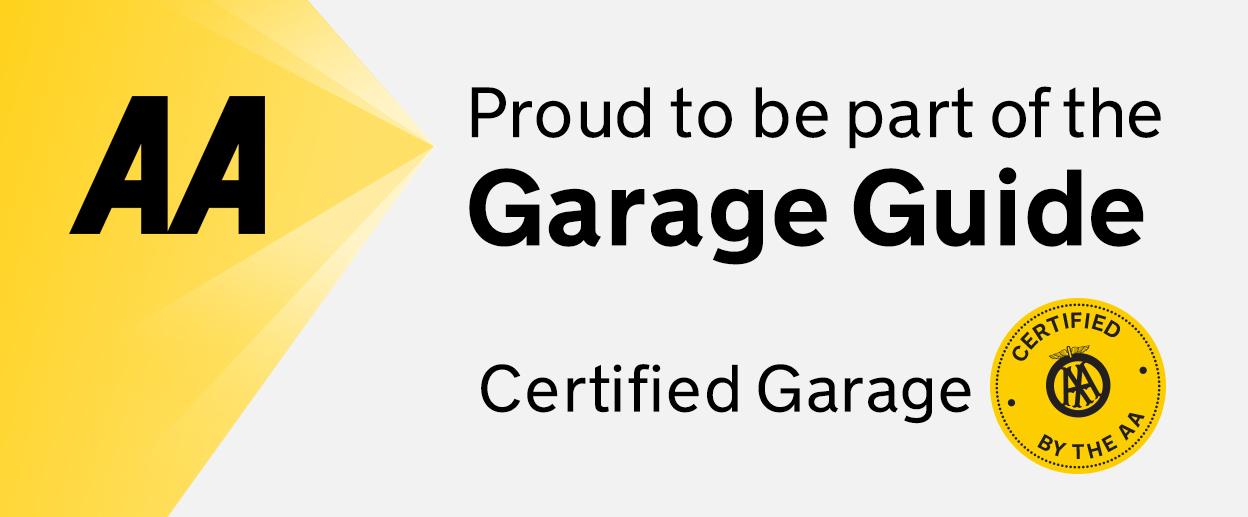 AA Garage guide certified logo
