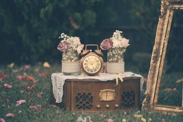 collection of vintage decor pieces