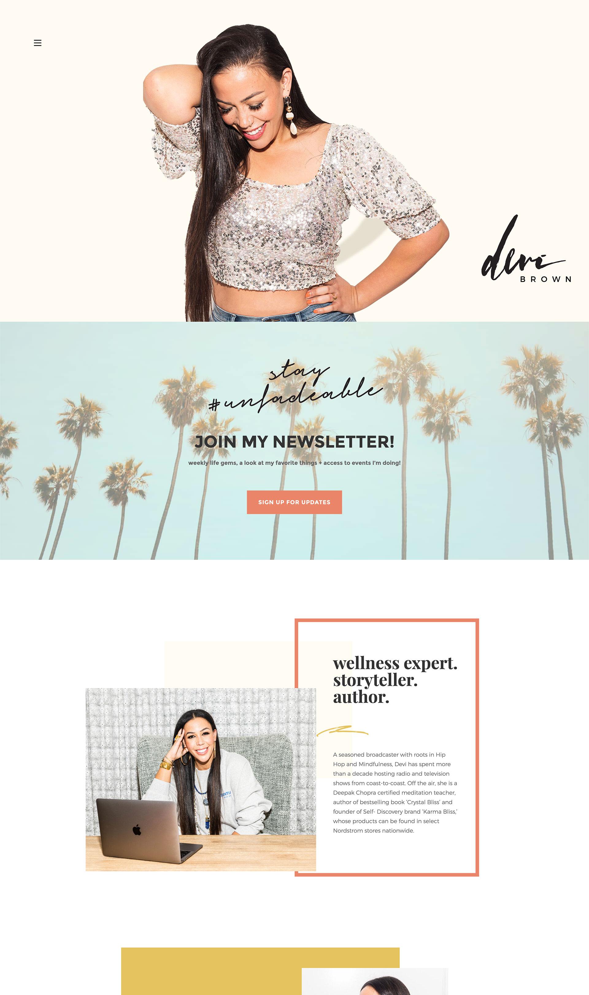 Devi Brown: Web Design