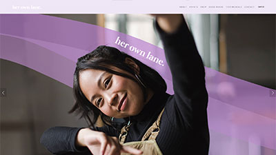 Her Own Lane: Web Design