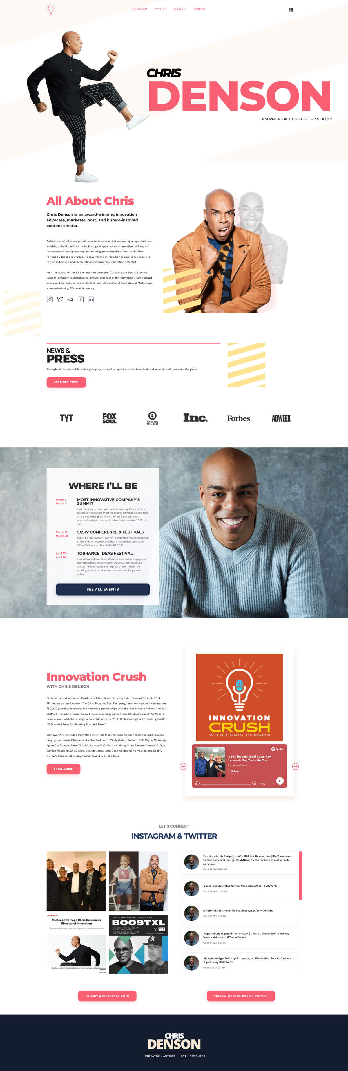 Chris Denson: Web Design