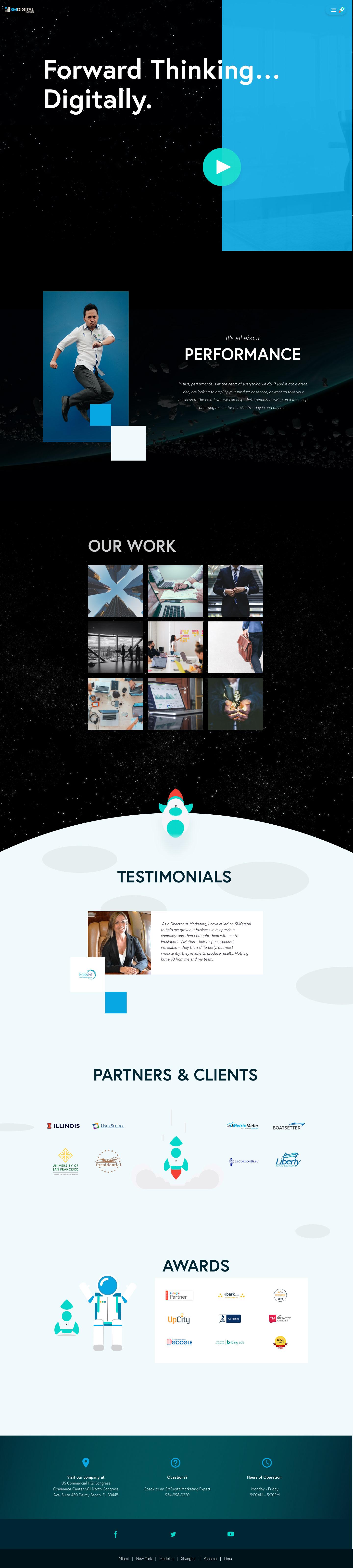 Digital Marketing Company Homepage Concept