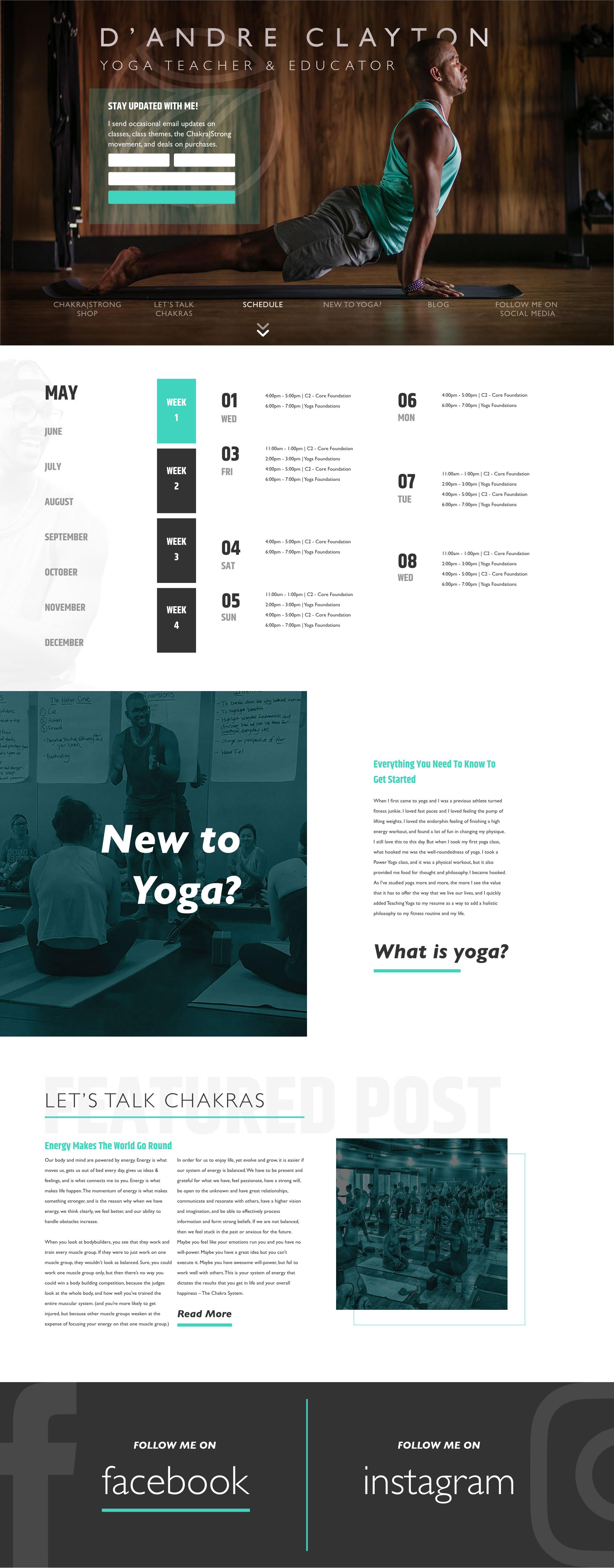 Yoga Teacher & Educator Web Design