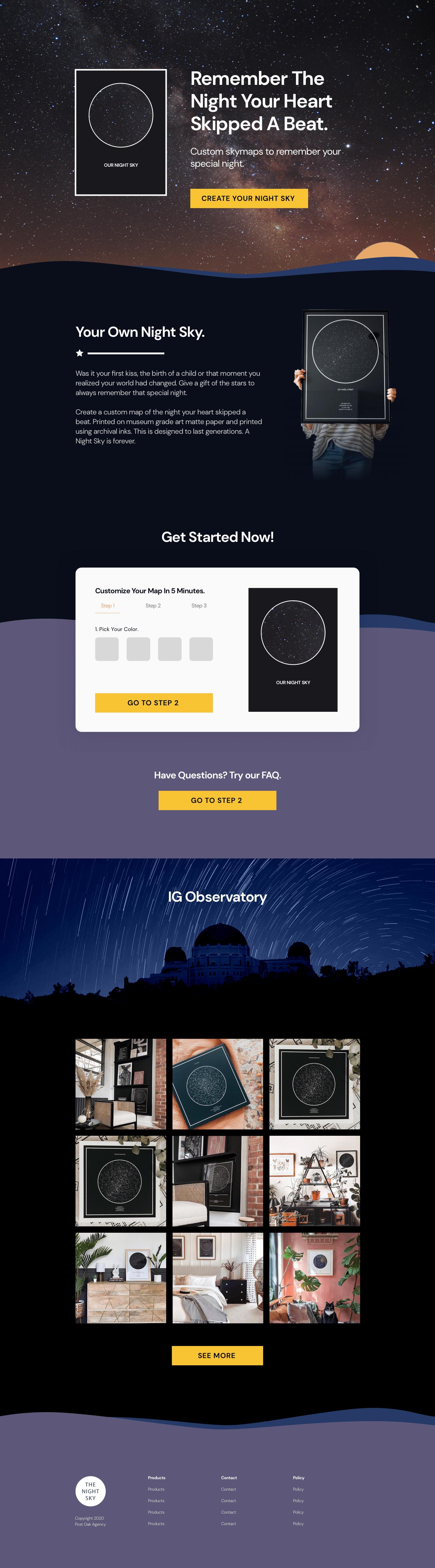 TheNightSky.com Redesign Concept