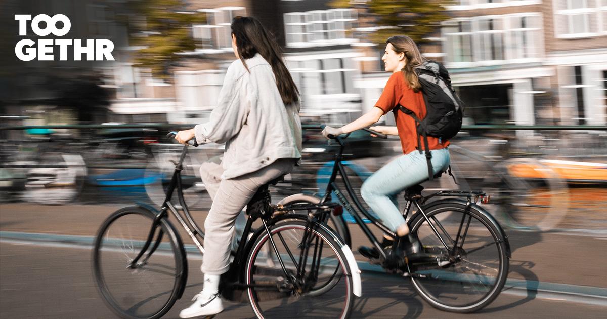 Het Rode Kruis Ziekenhuis op de fiets