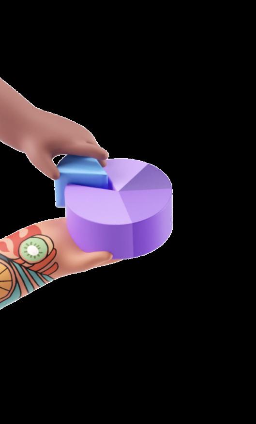 Pie Chart in hands