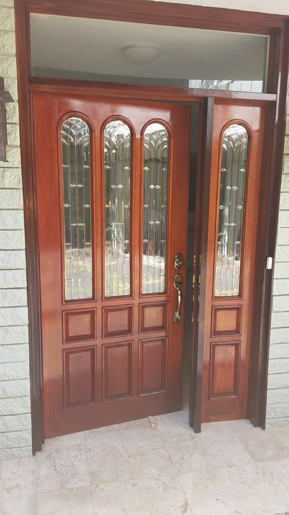 Front Entry Door Refinishing