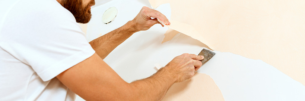 you'll want to test the wallpaper's adhesion