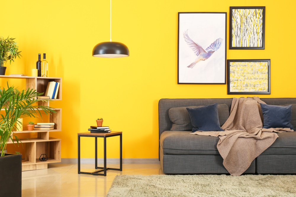 bright yellow small room color
