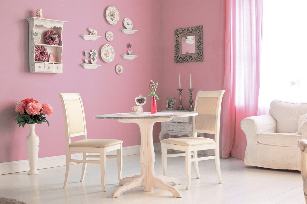 blush pink small room color