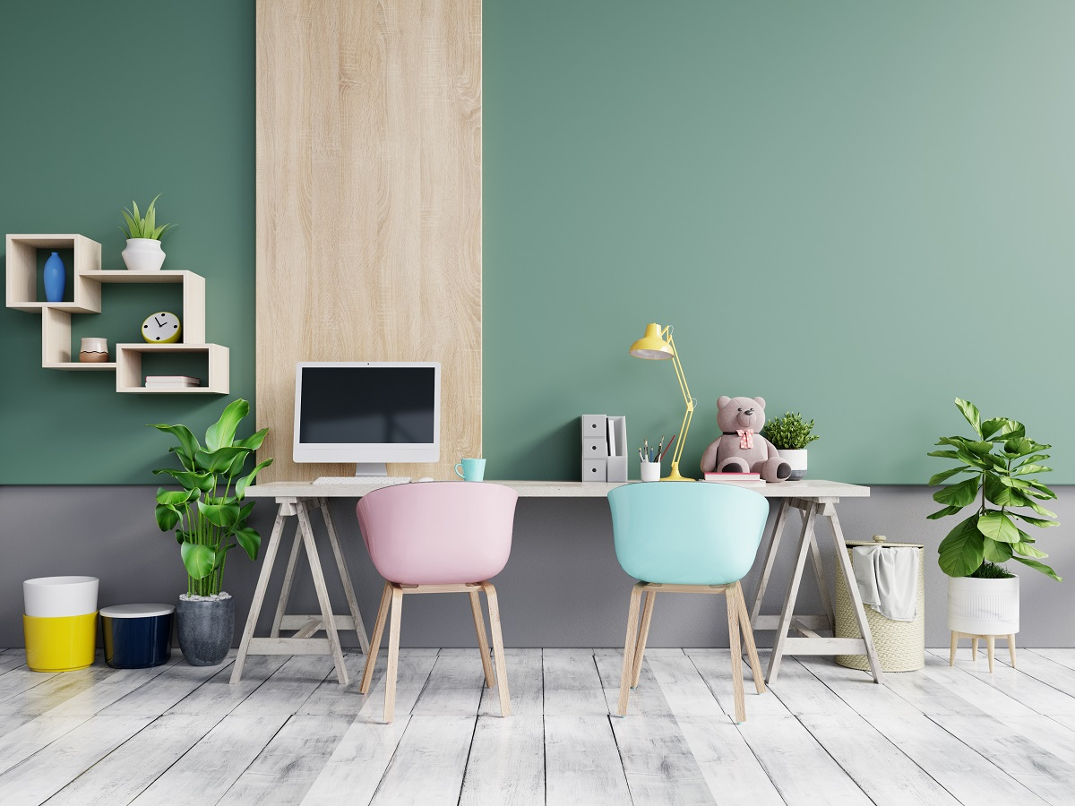 Mere Green home office color