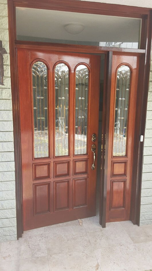Front Entry Door Refinishing