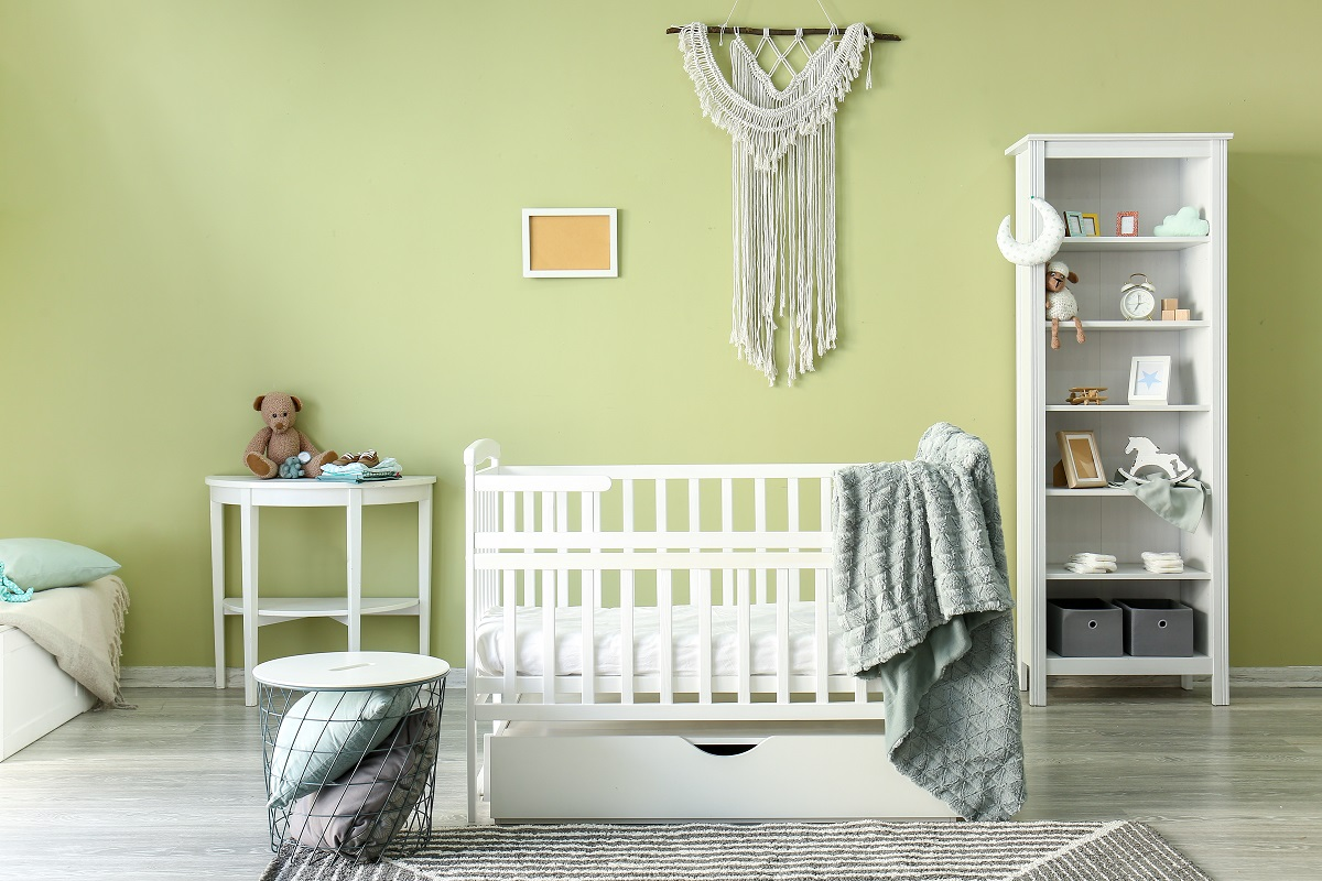 Green Baby Girl Room Painting