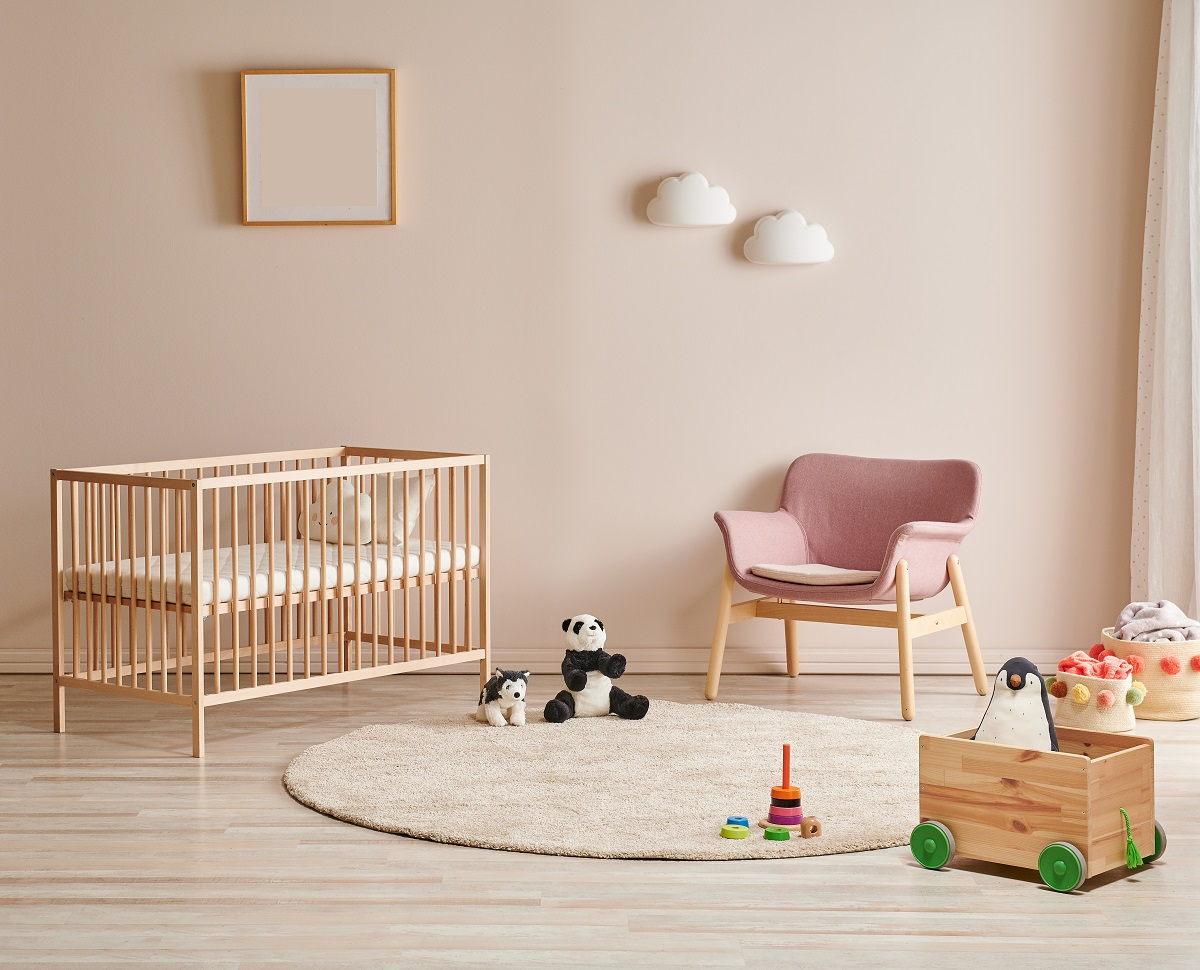 Pink Baby Girl Room Painting