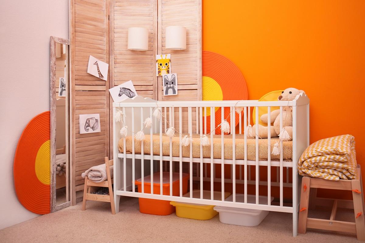 Orange Baby Boy Room Painting