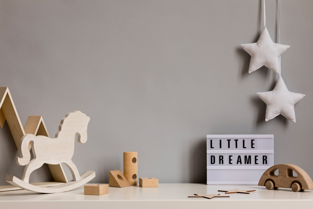 Gray Baby Boy Room Painting