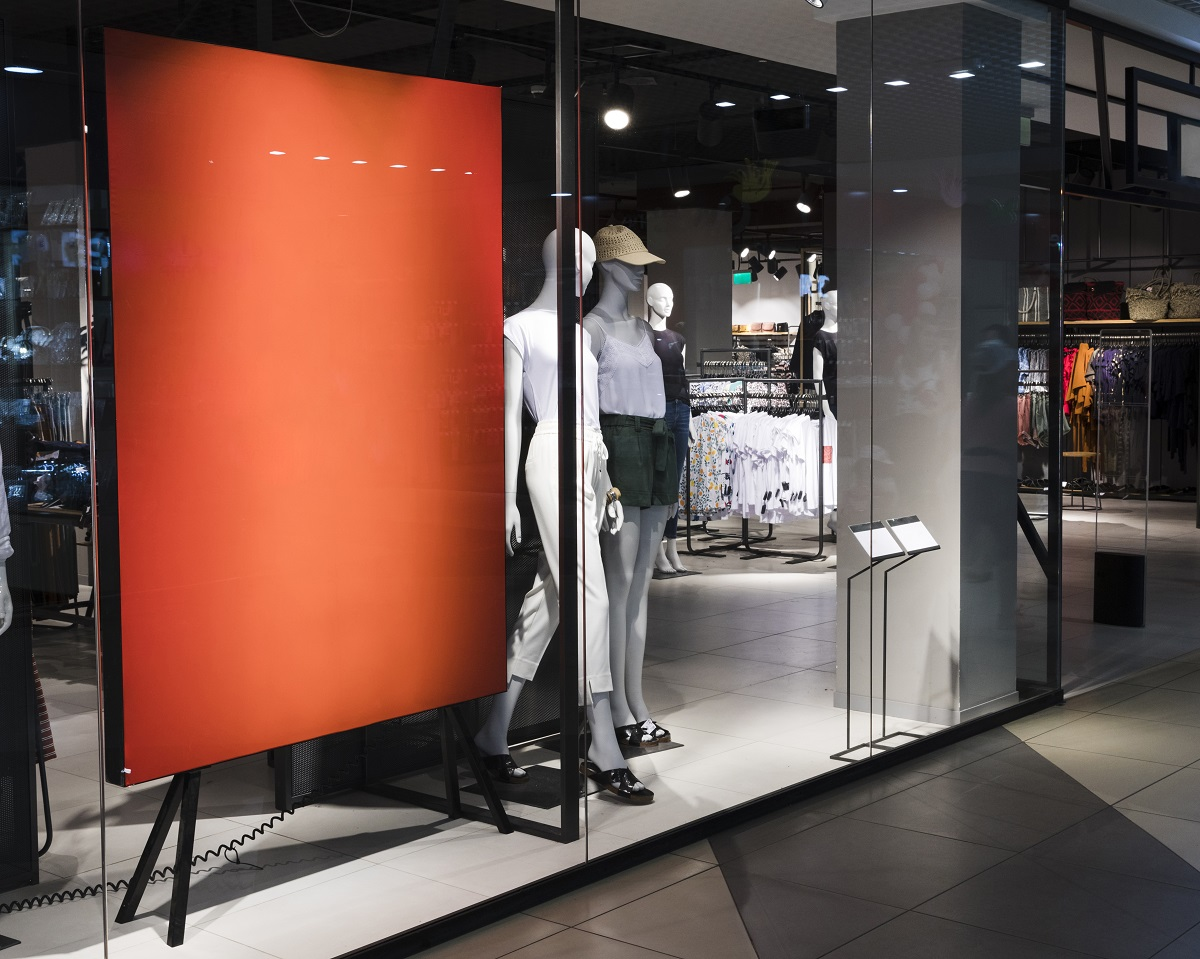 Orange Color for a Retail Store
