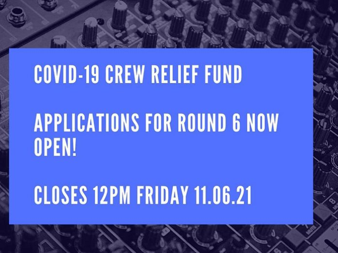 Stagehand COVID-19 Crew Relief Fund: Round Six Now Open