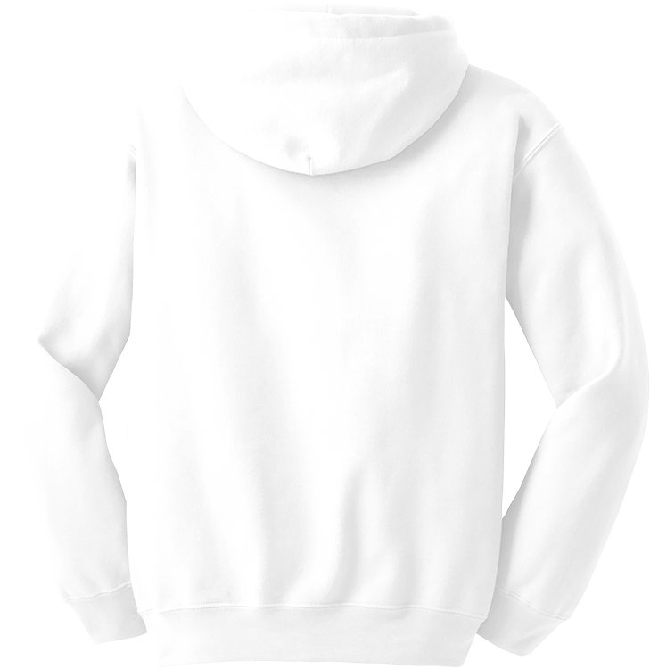 back of a white hoodie
