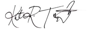 Kristina's signature