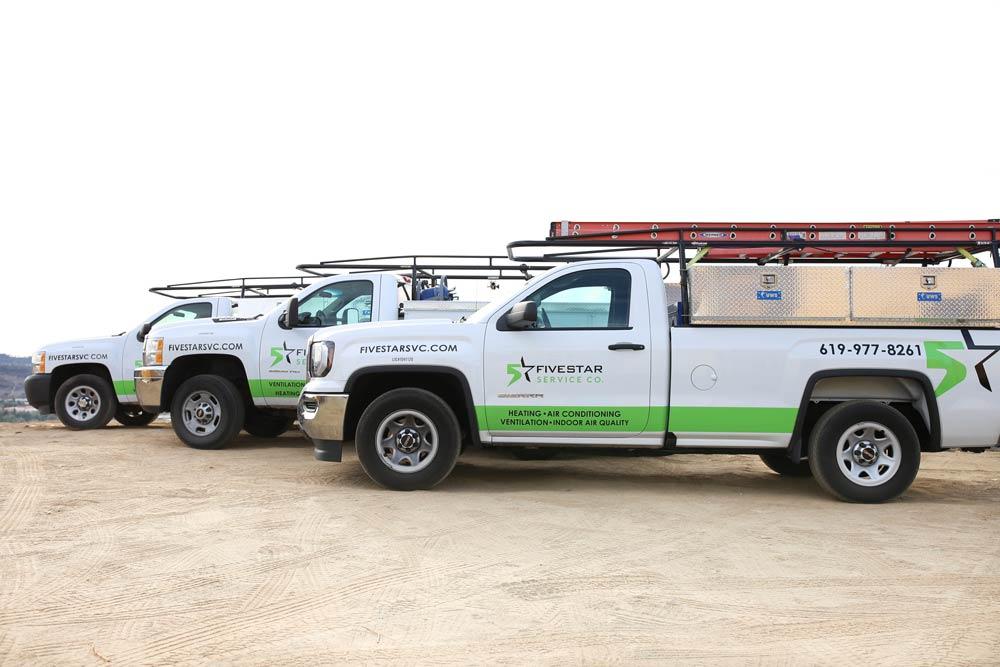 Five Star Service Company trucks, San Diego, CA