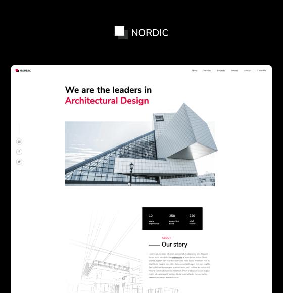 Nordic - Webflow Tempalte