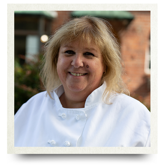 This is a photo of Mary Garofalo, the Executive Chef
