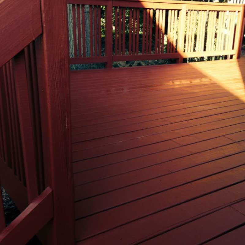 Newly stained and cleaned deck in Columbus, OH